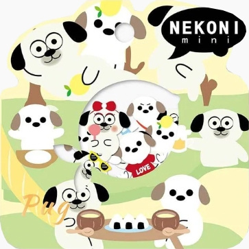 Stickerzakje Nekoni Pug