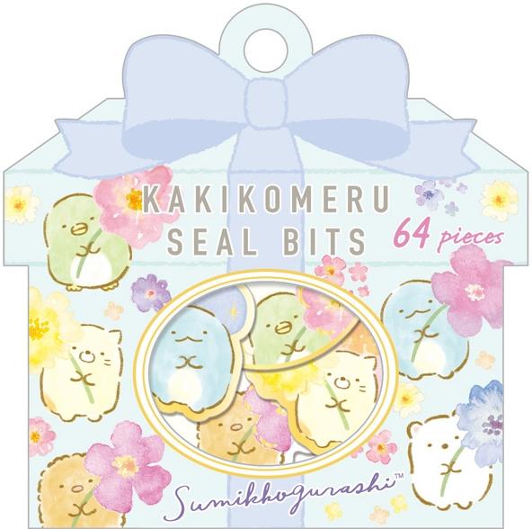 Sumikko Gurashi stickerzakje bloemen San-x
