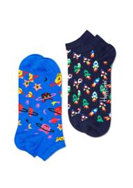 Happy Socks 2-Pack Low | Sneaker Socks Space Cat
