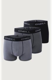 3-Pack O'Neill Heren Boxershorts Grijs, 900003