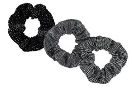 Sarlini Haarelastiek Scrunchies Black | 3 stuks