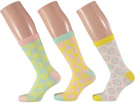 Apollo   Sunflower and Heart Socks   3-Pack Giftbox   Maat 36-41