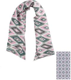 Sarlini Dames Plisé sjaal Geomatric Lila