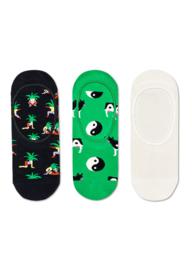 Happy Socks 3-Pack Liners | Sneakersokken | Yin and Yang Cow