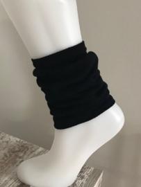 Beenwarmers zwart One Size voor Dames of Kinderen