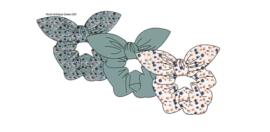 Sarlini Haarelastiek Scrunchies Antique Green met strik | 3 stuks
