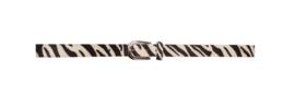 Smalle Zebra belt | riem Zwart/Wit