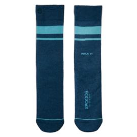 XPooos Essential Bamboo Sokken Blue Melange 67003