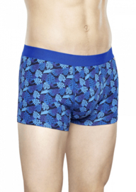 Happy Socks Men's Trunk Jungle Leaves Blauw