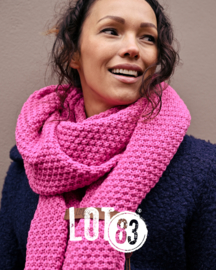 LOT83 | Bo | Lange knitted Gebreide Sjaal | Pink