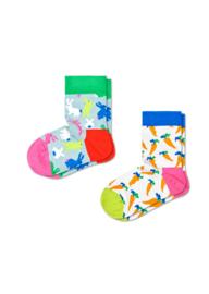 Happy Socks Kids 2-Pack Bunny Socks