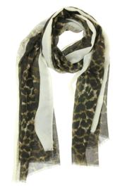 Lange zomersjaal Spring Leopard, Beige 91109