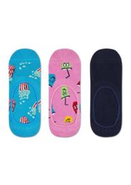Happy Socks 3-Pack Liner | Sneaker Socks Popcorn