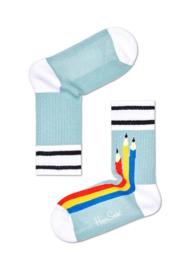 Happy Socks Kids Pen Rib Sock