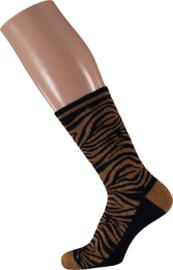 Sarlini Fashion Dames sokje Zebra Blauw | Maat 36-41