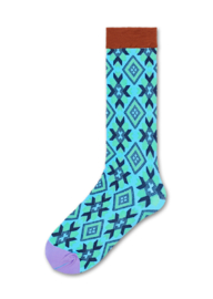 Happy Socks Hysteria Eva Knee High Blue, One Size