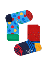 Happy Socks Kids 2-pack  Big Dot Sokken KBDO02-6004