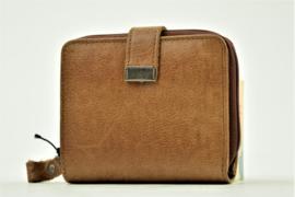 Bag2Bag Compact Portemonneetje Lima, Cognac