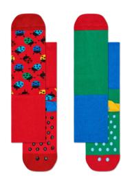Happy Socks 2-Pack Antislip, Ladybug,  6-12 maanden, Maat 15-18