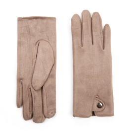 Dames handschoenen Khaki voor Touch Screen