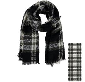 Sarlini lange geweven Dames sjaal Brush Boucle Khaki