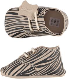 XQ Leren babyschoentjes Zebra