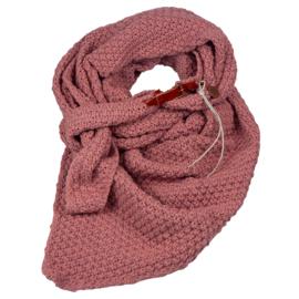 Gebreide Knitten Royale omslagdoek | wintersjaal Lot, Oud roze