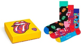 Happy Socks Collabs 3-Pack Giftbox Rolling stones