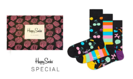 Happy Socks 3-Pack Gift box Balloon Animal, Stripes & Cherry