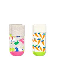 Happy Socks 2-Pack Bunny Terry Socks 0-6 Maanden