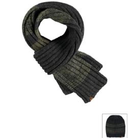 Sarlini lange gebreide Heren sjaal Khaki Green