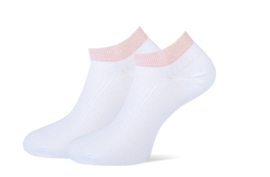 Marcmarcs Dames Sneakersokje   2-Pack   Moscow Wit Roze