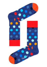 Happy Socks Big Dot Blauw