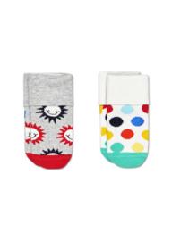 Happy Socks 2-Pack Sunny Smile Terry Socks 0-6 Maanden