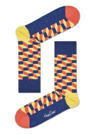 Happy Socks Filled Optic Socks Geel