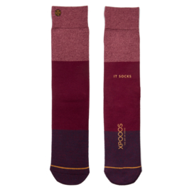 XPooos Essential Bamboo Sokken Bordeaux Mel. 67001