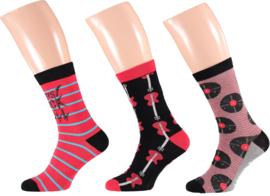 Apollo | Music Socks Red | 3-Pack Giftbox | Maat 41-46