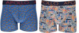 Apollo   Heren boxershorts   2-Pack Giftbox   Tools Blauw