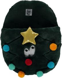 HomeSocks Christmas Giant Home Slippers Grazy Dots