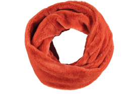Sarlini Knit Snood Ronde Orange Dames colsjaal Fake Fur