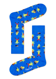 Happy Socks Yoga Palm Sock Blauw