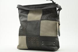 Bag2Bag Schoudertas - Shopper Lagos Laser Black