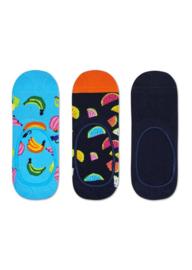 Happy Socks 3-Pack Liner   Sneaker Socks Banana