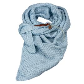Gebreide Knitten Royale omslagdoek | wintersjaal Lot, Licht blauw
