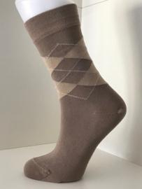 Boru Bamboo Design Square Argyle Sock | 2-Pack | Beige