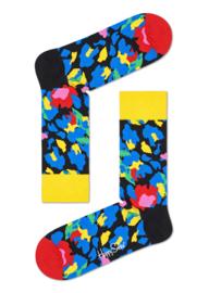 Happy Socks Leopard Sock Blauw