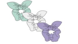 Sarlini Haarelastiek Scrunchies Plisé Lila | 3 stuks