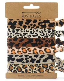 Elastische Hair Tie of Armbanden | Animal Brown C0196
