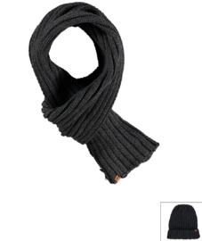 Sarlini lange gebreide Heren sjaal Antraciet
