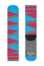 Happy Socks Athletic Grijs/Aqua/Fuchsia